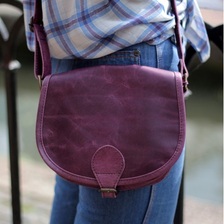 Isabelle Saddle Bag Purple Small