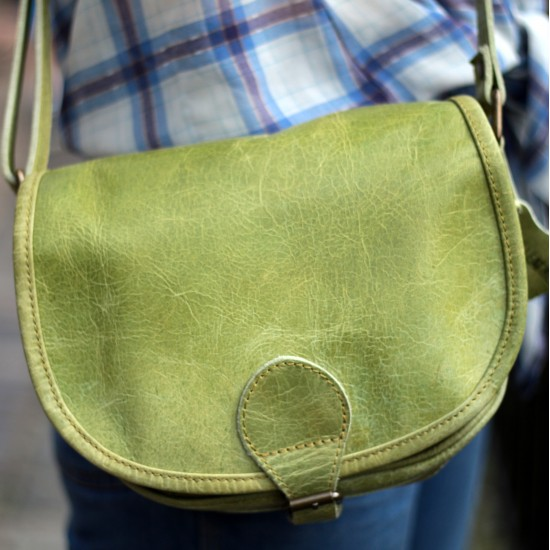 Isabelle Saddle Bag Apple Green Small
