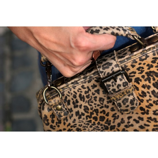 MInidoc Doctor Bag Small Leopard Print Leather