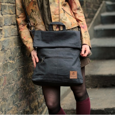 Belgian Convertible Backpack Charcoal Vegan