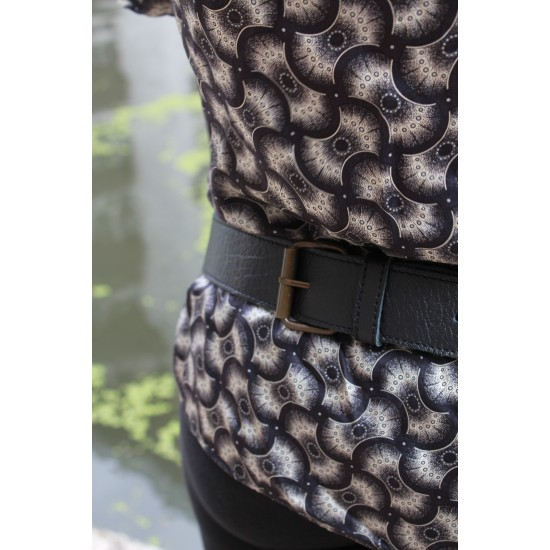 Scottish Convertible Bumbag Black Leather