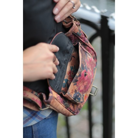 Isabelle Saddle Bag Floral N14 Small