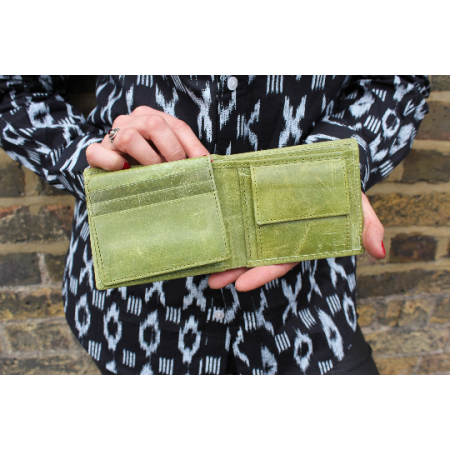 Alberta Trifold Wallet  - Apple Green