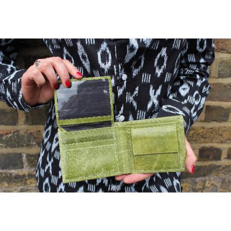Alberta Trifold Wallet  - Apple Green