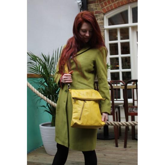 Amelie Crossbody Bag Yellow Leather