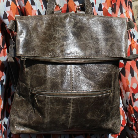 Amelie Olive Green Convertible Backpack