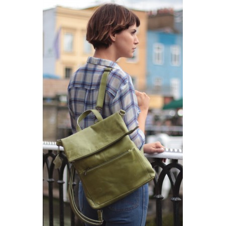Amelie Convertible Backpack Apple Green