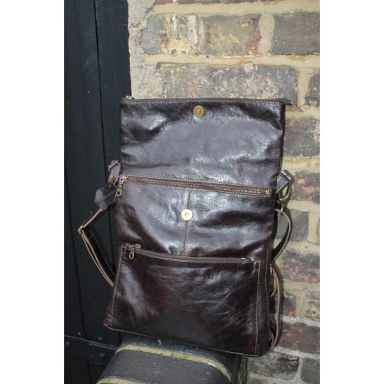 Amelie Convertible Backpack Dark Brown Leather