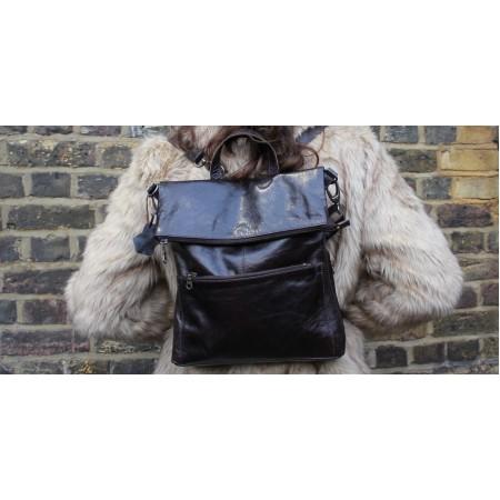 Amelie Backpack zip dark brown