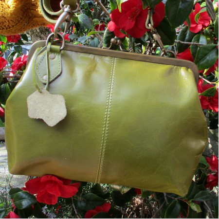 Athina Apple Green Kiss Clasp Frame Bag