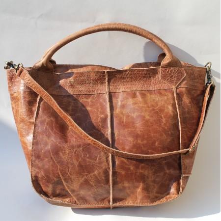 Bach Medium Totebag Tan Scrunchy Leather