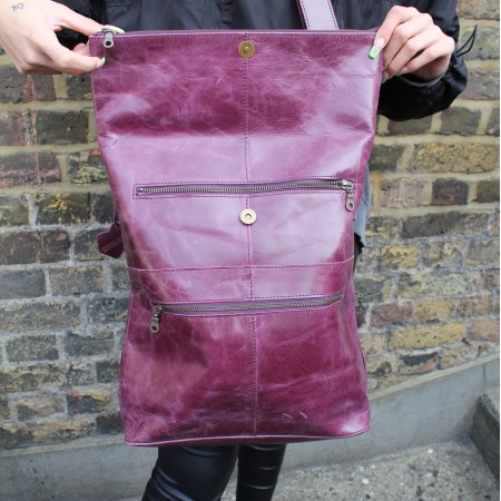Belgian Convertible Backpack Purple