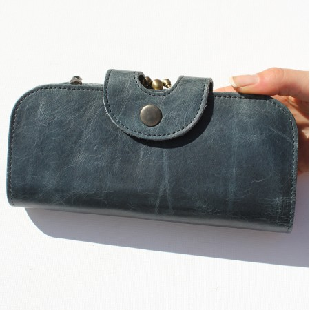Navy Multi-compartment Wallet