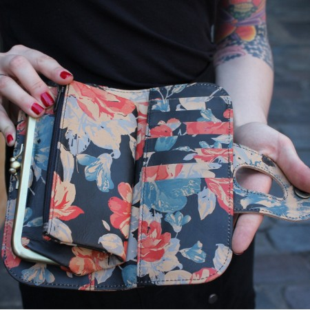 Big Fat Floral Wallet Spanish Floral Leather