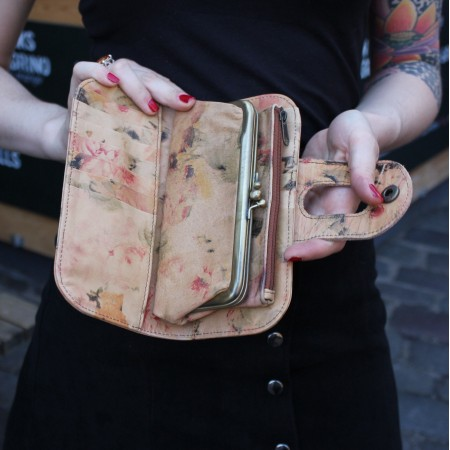 Big Fat Floral Print VDF Wallet Leather
