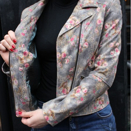 Biker Jacket Floralprint No 21 Leather