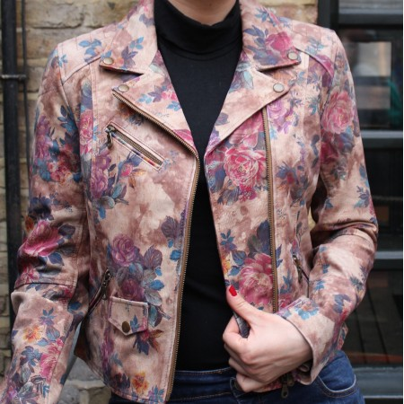 Biker Jacket Floral Print No 14 Leather