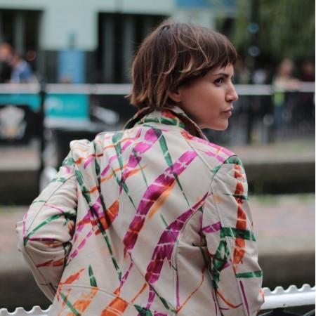 Biker Jacket Tie-dye Leather