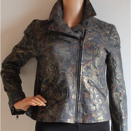 Biker Turandot Printed Leather