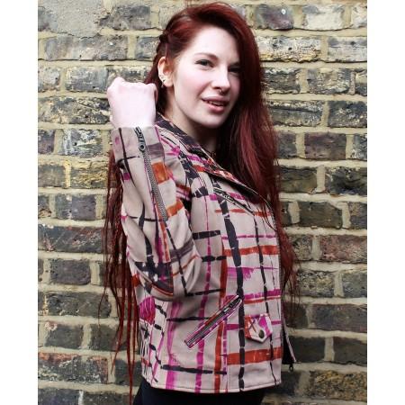Biker Jacket Tiedye Multicolour Leather