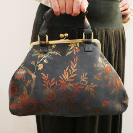 Boheme Top Clasp Flapped Handle Bag Kyoto