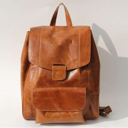 Coolruck Small Rucksack Tan Smooth Leather