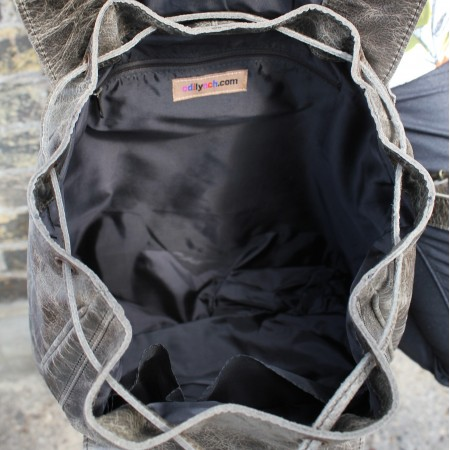 Coolruck Large Rucksack Charcoal Leather