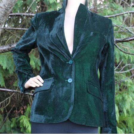 Dark Green Classic velvet Jacket