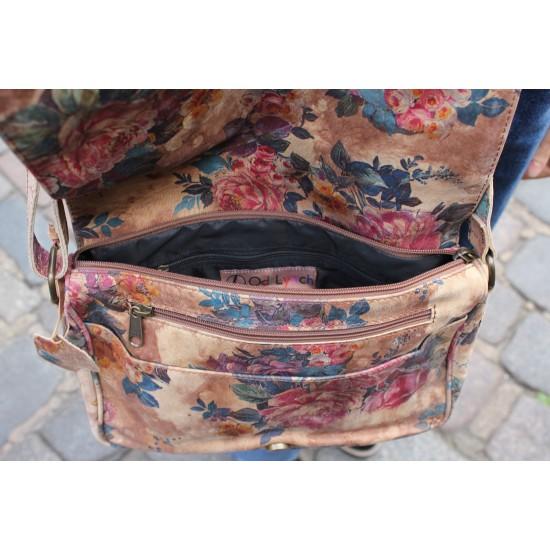 Denise Crossbody Organiser bag in Floral Leather