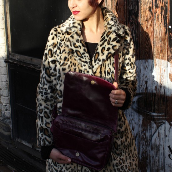 Denise Organiser Purple Leather Bag
