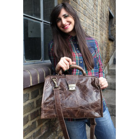 Doctor Bag Medium Dark Brown Leather