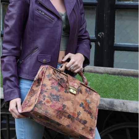 Doctor Medium Large Floral Print Leather No 14