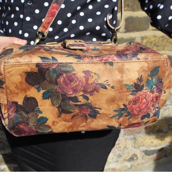 Minidoc Doctor Bag No 14 Floral Print Leather