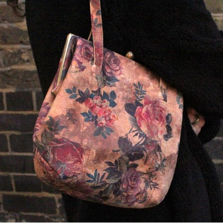 Dolly Floral No 14 Clipframe Bag Leather