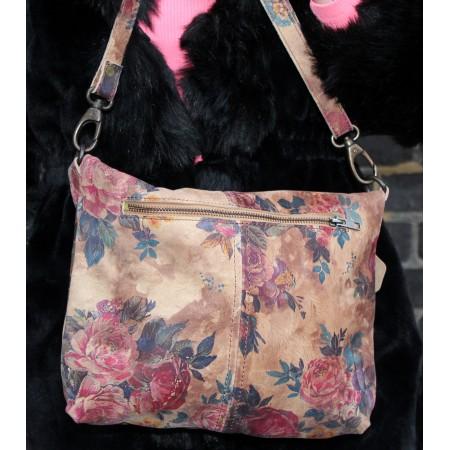 Dublin Medium Clip Bag Floral Leather