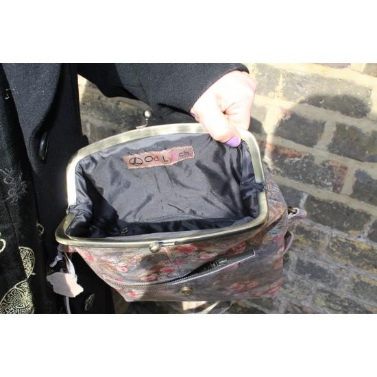Dublin Clipframe Handbag Floral grey