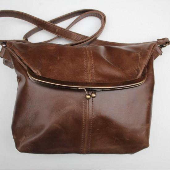 Dublin Clip Bag Medium Brown