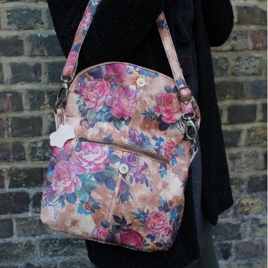 Dublin Medium Zip Bag Floral 14 Leather