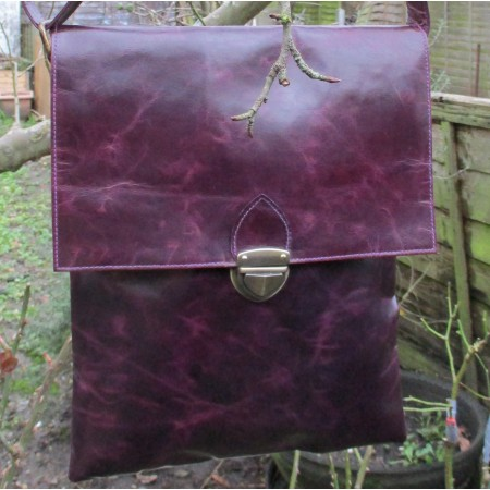 Envelope Large Messenger bag with attached purse