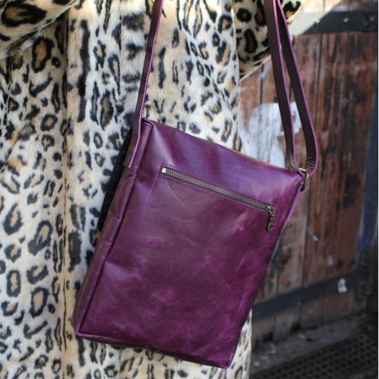 Envelope Medium Purple Leather Bag