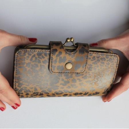 Evanna Large Clip Wallet Leopardprint