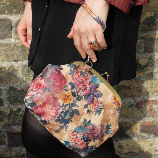 Evanna Large Floral Leather Bag
