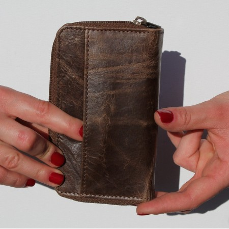 Fabretti Light Brown Crunch & Green Wallet