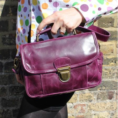 Funky Bag Purple Leather Mini Satchel