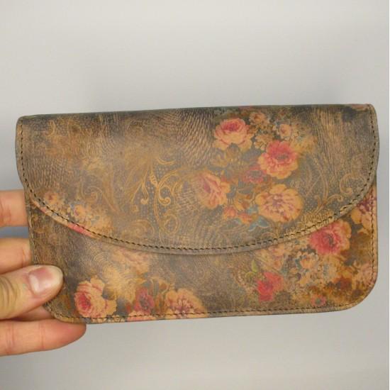 German Wallet Clutch Purse Floral no 21