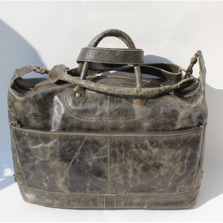 Gertrude Small Tote Charcoal Leather Bag