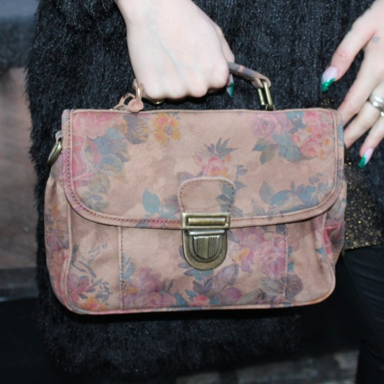 Funky Mini Satchel Darkest Floralprint N14