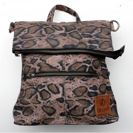 Amelie Backpack Snakeprint Vegan