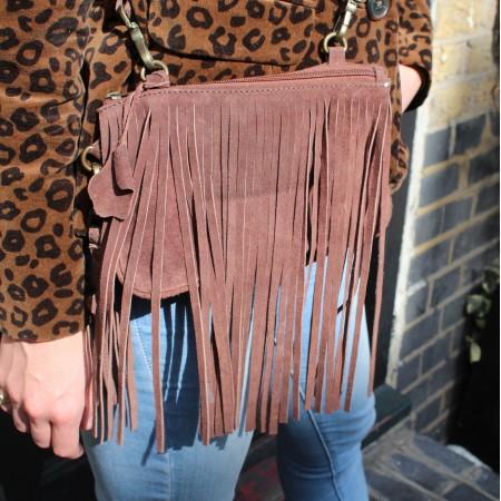 Small Bag Dark Brown  Suede
