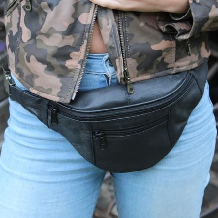 Black Bumbag Leather